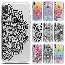 Handy Hülle für iPhone Silikon Case Schutzhülle TPU Cover Tacshe Mandala Motiv