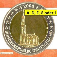 Sondermünzen BRD: 2 Euro Münze 2008 Hamburger Michel Sondermünze Gedenkmünze