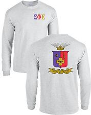 Sigma Phi Epsilon Fraternity Crest Long Sleeve Shirt SigEp Coat of Arms - NEW