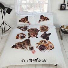 I cani LIFE Puppy Pooch Set di biancheria da letto bianca singolo doppio King