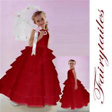 NWT New Baby Flower Girl Red  Wedding Dress 24 Months