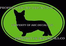 VRS Oval Dog Cardigan Welsh Corgi Puppy Rescue Kennel CAR DECAL VINYL STICKER