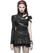 Punk Rave Womens Dieselpunk One Sleeve Shrug Harness Black Gothic Bolero Jacket