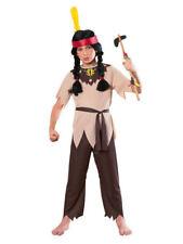 NWT NATIVE AMERICAN INDIAN WARRIOR COSTUME BOYS SMALL 4 5 6 NIP HALLOWEEN