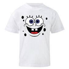 Art T-shirt, Maglietta Spongebob, Bambino Child Boy, Bianca