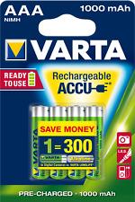 Varta Rechargeable Ready2 Use  5703   Akku  AAA   Micro 1000 mAh  4er Bli.