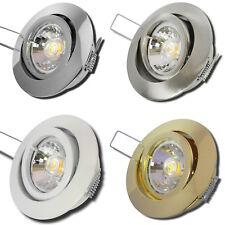 1er Sets LED Deckenstrahler Einbaustrahler Timo 230Volt 3W IP20 SMD Deckenspots