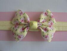 "Assorted Designs Newborn/Baby/Toddler/Girl Headband/2.75"" Knotted Grosgrain Bow"
