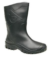 Dunlop Dee Calf  Women Black  Walking Snow Rain Half Length  Wellingtons