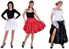 Taft Rock Kostüm Kleid Damen Spanierin Unterrock Petticoat kurz mittel lang sexy