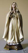 STATUA MADONNA DI FATIMA in polvere di alabastro (Marmo) 16 cm