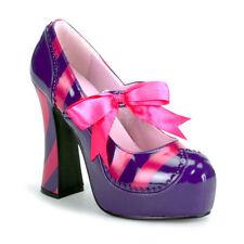"FUNTASMA Kitty-32 Purple Pink Bow Costume Cosplay Platform Mary Janes 5"" Heels"