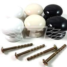 Bouton en céramique ¯ 38 mm poignées de porte placard meuble boutons noir blanc magnolia