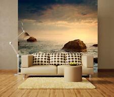 3D Mare, pietra 2 Parete Murale Foto Carta da parati immagine sfondo muro stampa