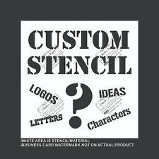 Custom Stencil - Your Logo - Reusable, Flexible Plastic Stencil