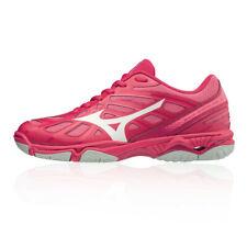 Mizuno Mujer Wave Hurricane 3 Interior Corte Zapatos Rosa Deporte Bádminton