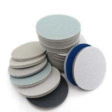 "3"" 75mm Wet Dry Sponge Foam Sanding Pad Discs Hook Loop 300-3000 Grit Cellphone"