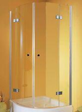 Duschkabine 90x90 Runddusche Viertelkreis Glas Drehtür Dusche Duschabtrennung