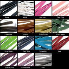 10 Mtrs 3mm, 5mm de imitación de gamuza Plana Cuerdas-Varios Colores