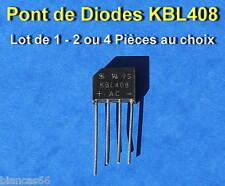 *** LOT AU CHOIX DE 1*2 OU 4 PONT DE DIODES KBL408 - 800V/4A ***
