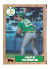 1987 Topps Tiffany Mark McGwire Oakland Athletics #366 Baseball Card