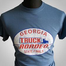 Camión roadeo Smokey Y El Bandido Película Retro camiseta Azul Índigo Burt Reynolds