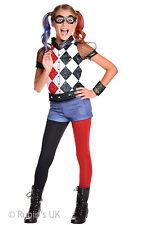 DC Superhero Girls Deluxe Harley Quinn Fancy Dress Costume Age 3-10