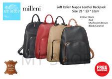 Milleni Genuine Italian Soft Nappa Leather  Backpack NL10767