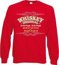 Sweatshirt in rot mit einem Biker-,Chopper-&Old Schoolmotiv Modell Original Whis