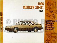1986 Merkur XR4Ti Electrical and Vacuum Troubleshooting Manual 86 Original OEM