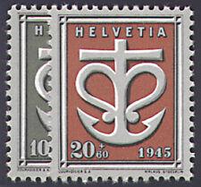 Schweiz Nr. 443-444 postfrisch ** MNH / gestempelt Kriegsgeschädigte 1945