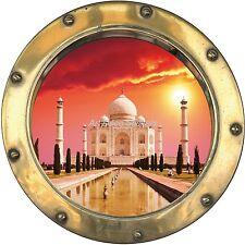 Sticker trompe l'oeil déco Taj Mahal réf H370