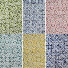 Natural Cotton Printed Handmade Sanganeri Vintage Indian Hand Block Print Fabric