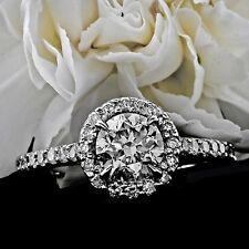 2.77CT F/VS2 HUGE ROUND CUT DIAMOND HALO ENGAGEMENT RING 14K SET ENHANCED