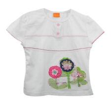 Mode Mini Appliqued & embelli blanc à manches courtes tee shirt