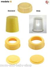 MEDELA BREAST MILK FEEDING BOTTLE KIT LID COLLAR DISK DISC CAP STANDARD/ WIDE