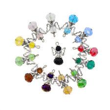 12x Handmade Bead Charms Crystal Glass Dancing Angel Wings Pendants 29x18mm