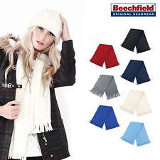 Beechfield Unisex Suprafleece Dolomite Warm Winter Fashion Scarf tassel trim