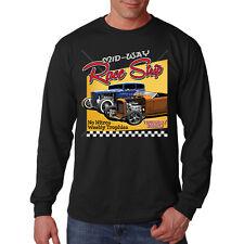 Mid Way Race Strip Classic Hot Rat Rod Car Auto Racing Long Sleeve T-Shirt