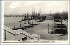 BORDEAUX France CPA 1920/30 Schiff Anlegestelle Quais