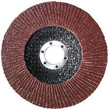 10 Fächerscheiben Schleifmopteller 115mm/125mm ''BRAUN - Körnung wählbar''