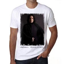 Alan Rickman 2,Tshirt Homme Blanc, Col Rond Homme T-shirt