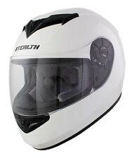 KARTING CRASH HELMET ADULT FULL FACE GLOSS WHITE / GO KART / RACE / LEISURE CART