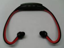casque MP3 noir/rouge