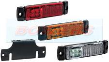 12V/24V SLIM-LINE WHITE/AMBER/RED LED MARKER LIGHTS/LAMPS TRUCK LORRY TRAILER