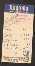 """LA FERTE-SOUS-JOUARRE (77) DROGUERIE / ENCAUSTIQUE NOYAMA """"R. BOWANTZ"""" en 1959"""