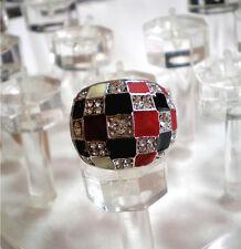 Beautiful Swarovski Crystal Checker Ring Various Size 5.5, 6, 6.5, 7, 7.75, 8, 9