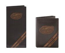 ZEP-PRO FLORIDA GATORS Genuine Leather Debossed Wallet Checkbook or Trifold