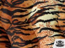 "Velboa Faux Fur Fabric Animal Print ORANGE TIGER 60"" W / By the Yard"