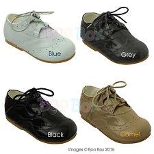 Baby Boys + Boys Spanish Style Lace Up Front Shoes Christening UK Sizes 1-8
